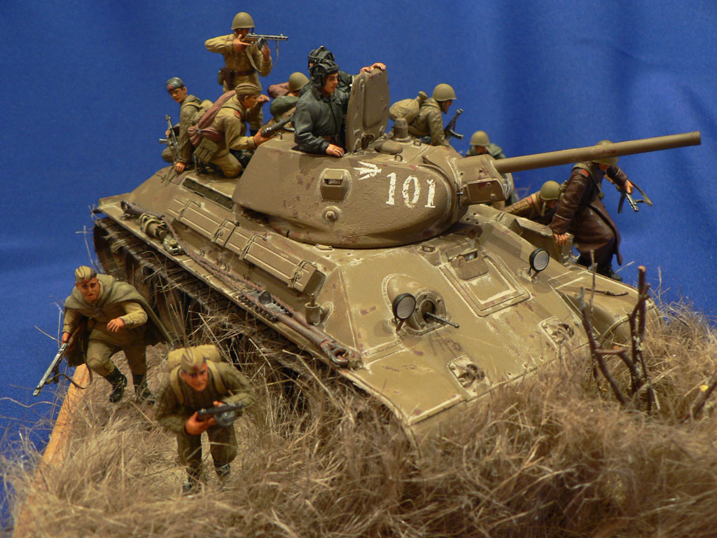 Dioramas and Vignettes: Soviet tank riders, photo #16