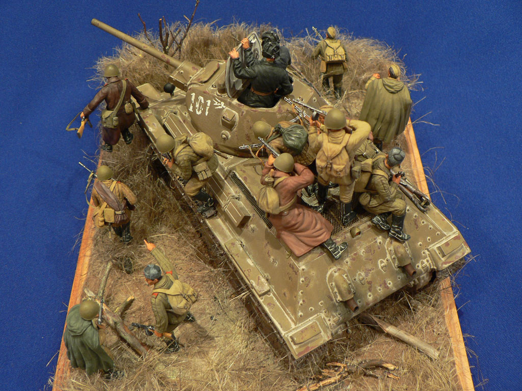 Dioramas and Vignettes: Soviet tank riders, photo #18