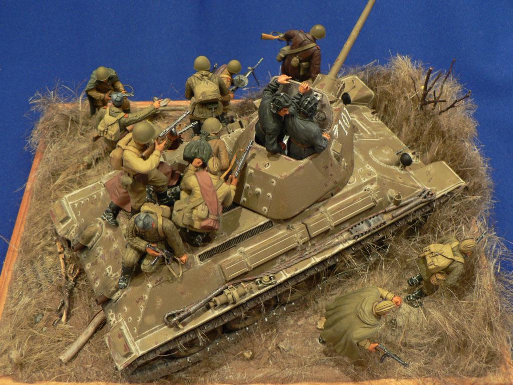 Dioramas and Vignettes: Soviet tank riders, photo #19