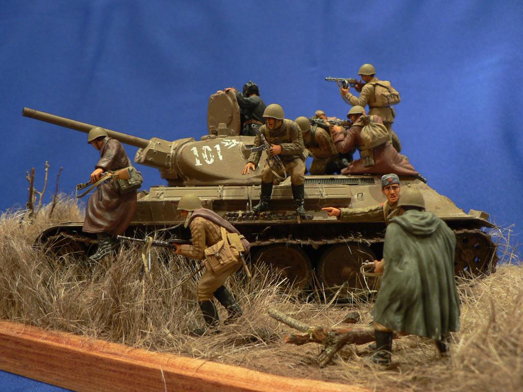 Dioramas and Vignettes: Soviet tank riders, photo #2