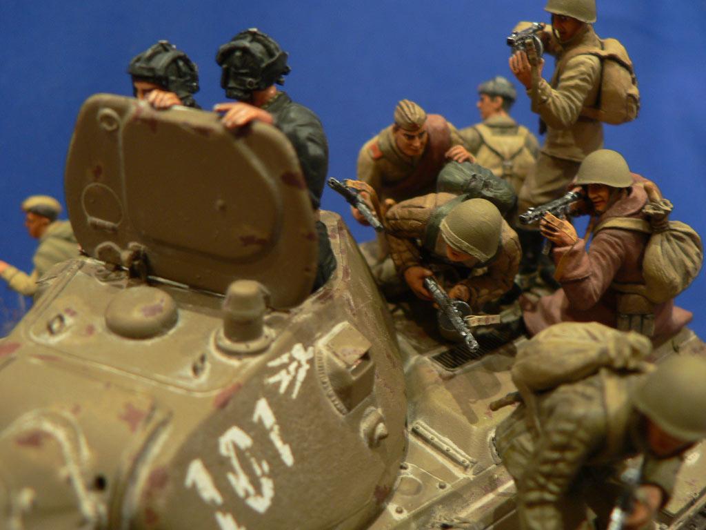 Dioramas and Vignettes: Soviet tank riders, photo #24