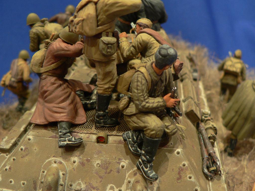 Dioramas and Vignettes: Soviet tank riders, photo #25