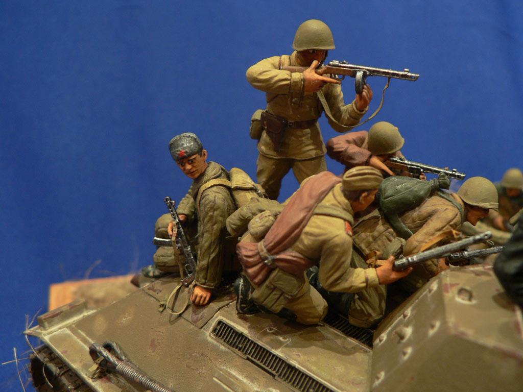 Dioramas and Vignettes: Soviet tank riders, photo #29