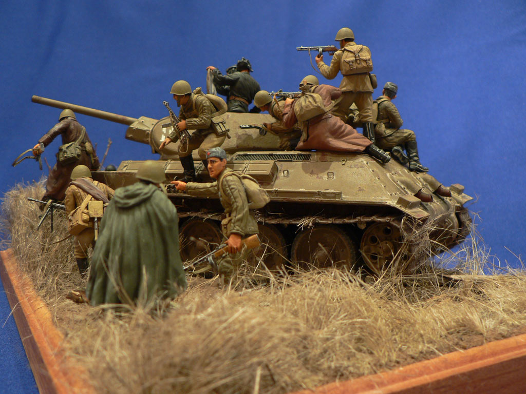 Dioramas and Vignettes: Soviet tank riders, photo #3