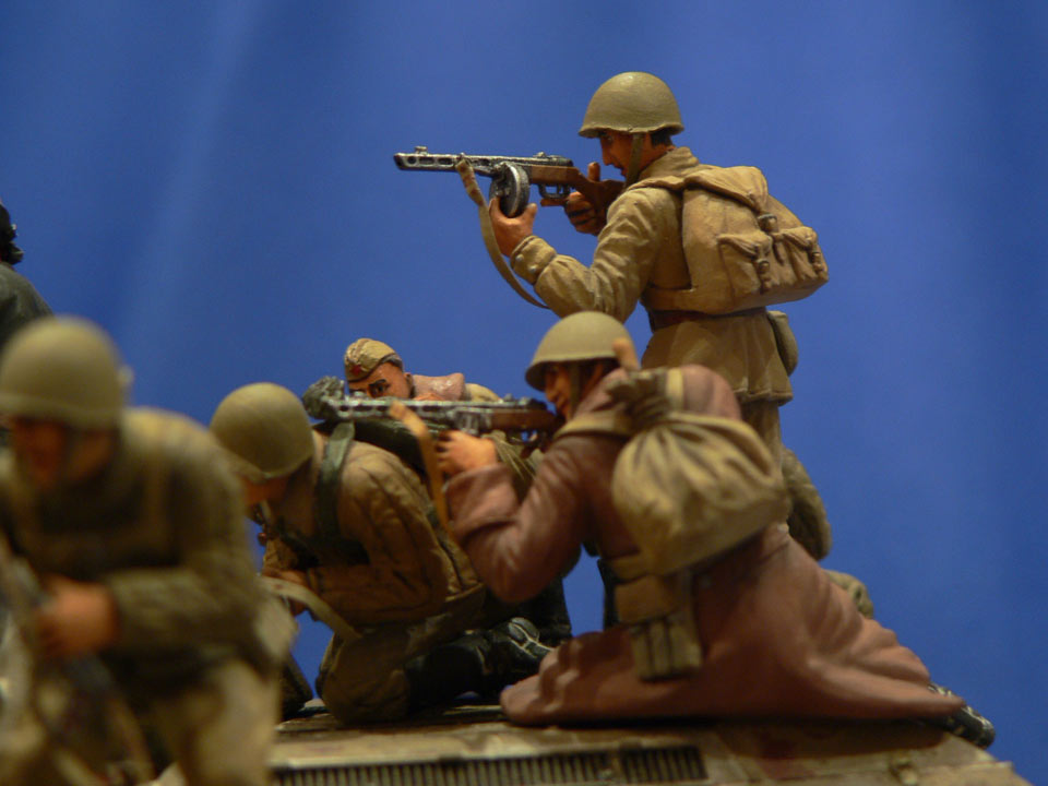 Dioramas and Vignettes: Soviet tank riders, photo #31