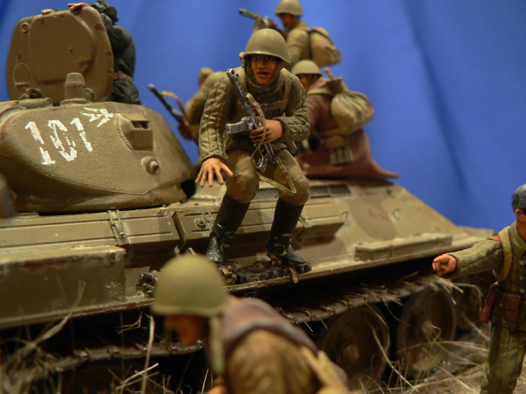 Dioramas and Vignettes: Soviet tank riders, photo #33