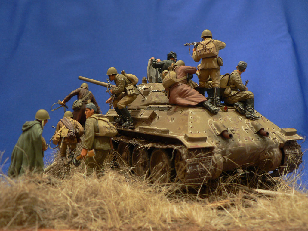 Dioramas and Vignettes: Soviet tank riders, photo #4