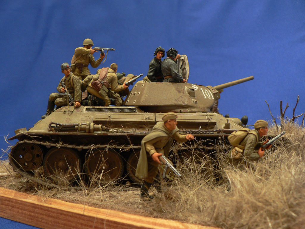 Dioramas and Vignettes: Soviet tank riders, photo #7