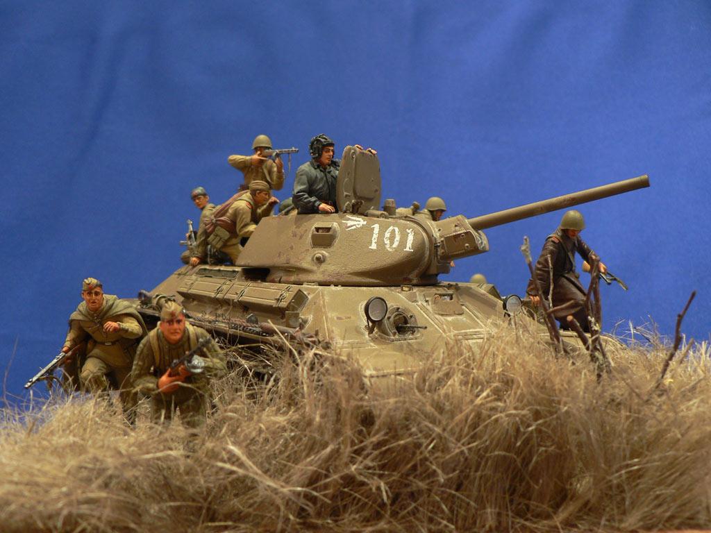 Dioramas and Vignettes: Soviet tank riders, photo #8