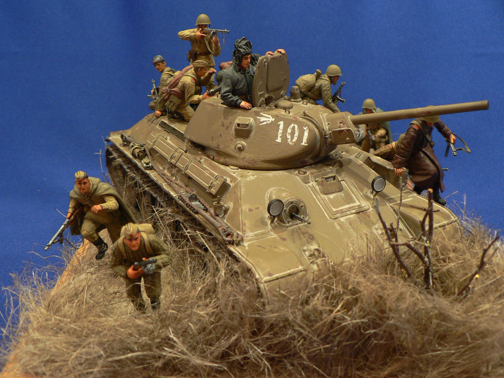Dioramas and Vignettes: Soviet tank riders, photo #9