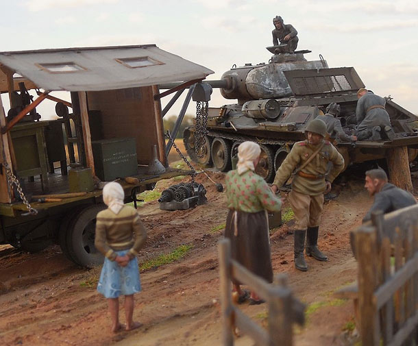 Dioramas and Vignettes: It's a luck to get a hit into the engine compartment...