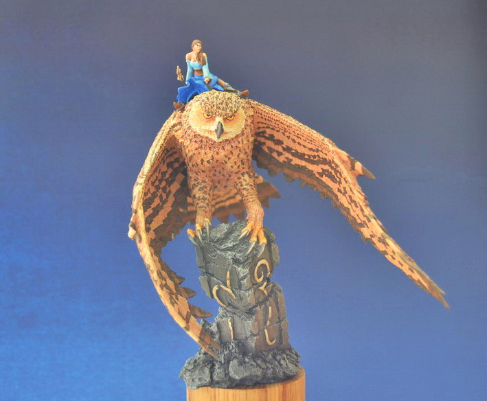 Miscellaneous: Elf on a giant eagle-owl, photo #1