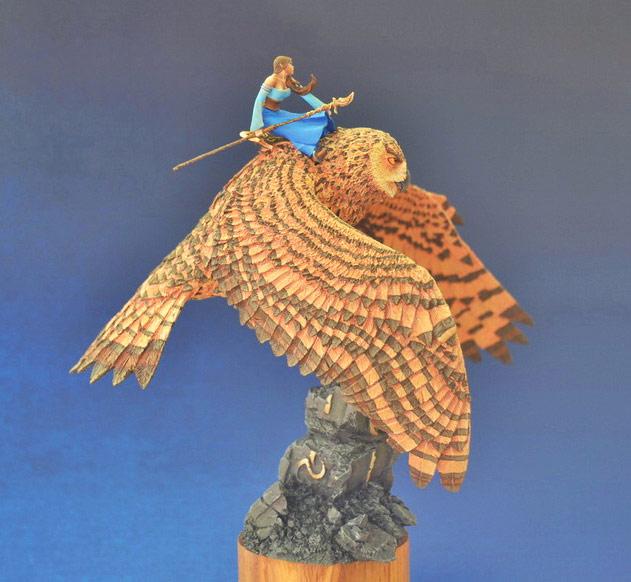 Miscellaneous: Elf on a giant eagle-owl, photo #3