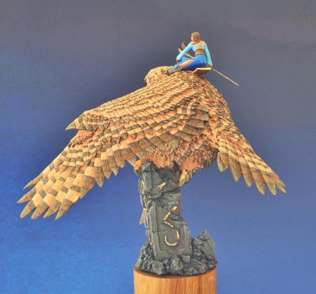 Miscellaneous: Elf on a giant eagle-owl, photo #6