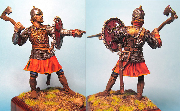 Figures: Russian warrior with tarch shield