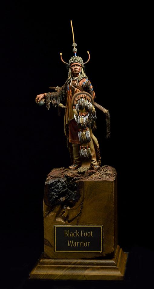 Figures: Blackfoot warrior, photo #1
