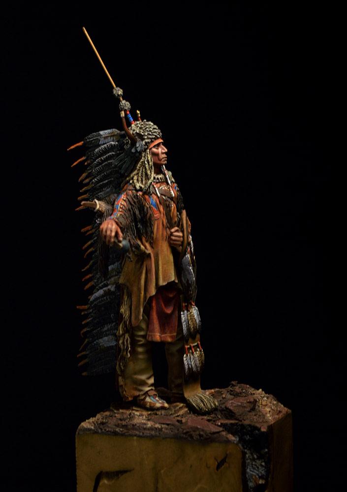 Figures: Blackfoot warrior, photo #9