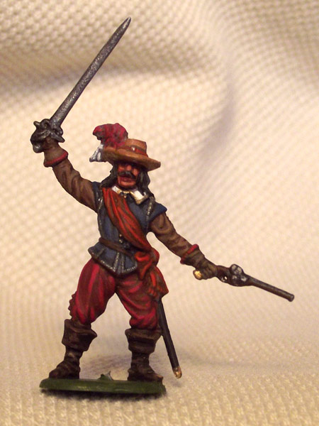 Figures: Captain of musketeers. England, 1642-51, photo #1