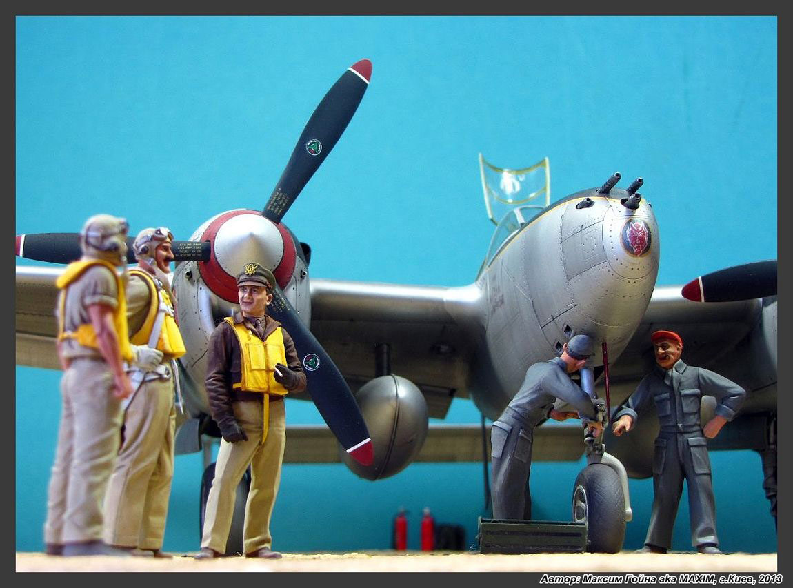Dioramas and Vignettes: Major Thomas McGuire and his Lightning, photo #10