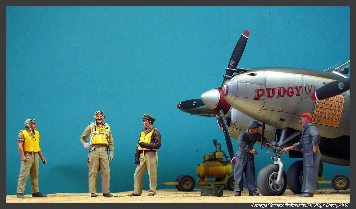 Dioramas and Vignettes: Major Thomas McGuire and his Lightning, photo #13