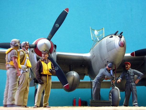 Dioramas and Vignettes: Major Thomas McGuire and his Lightning