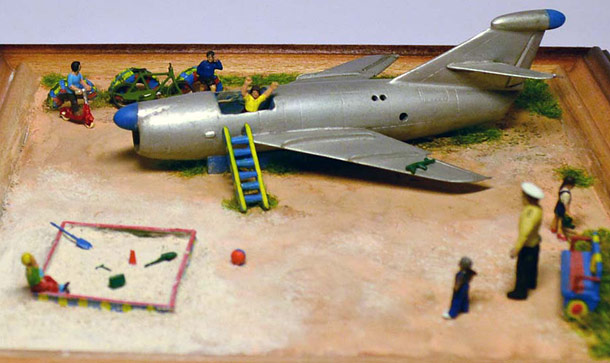 Dioramas and Vignettes: Сhild's plane (KS-1 rocket on the playground)