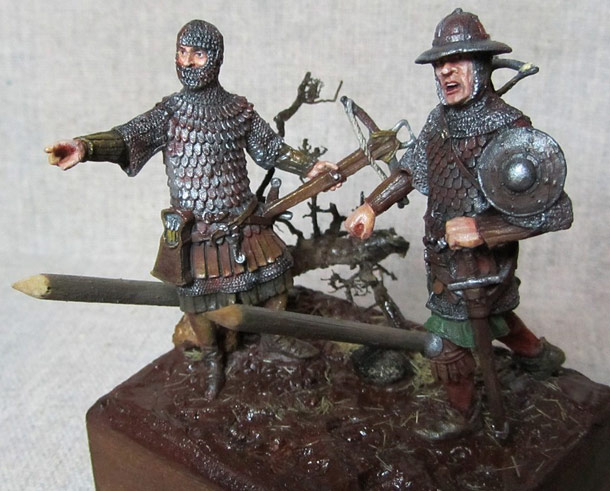 Dioramas and Vignettes: Crossbowmen under the rain