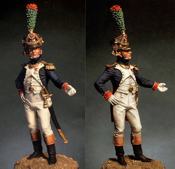 Figures: Officer, fusiliers-chasseurs of Emperor's Guard, 1812