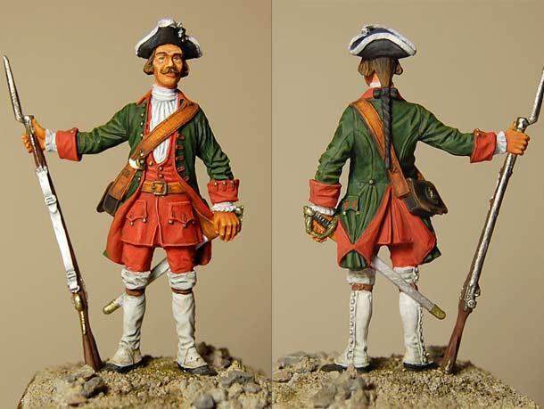 Figures: Fusilier, 1732-1742