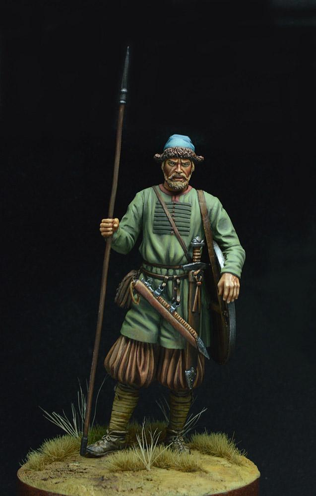 Figures: Russian warrior, 10th century, photo #2
