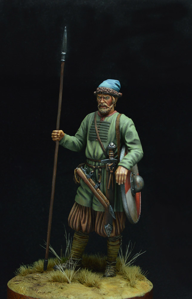 Figures: Russian warrior, 10th century, photo #3