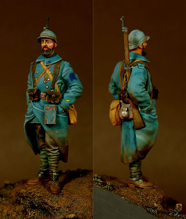 Figures: French infantryman, Western front, 1917