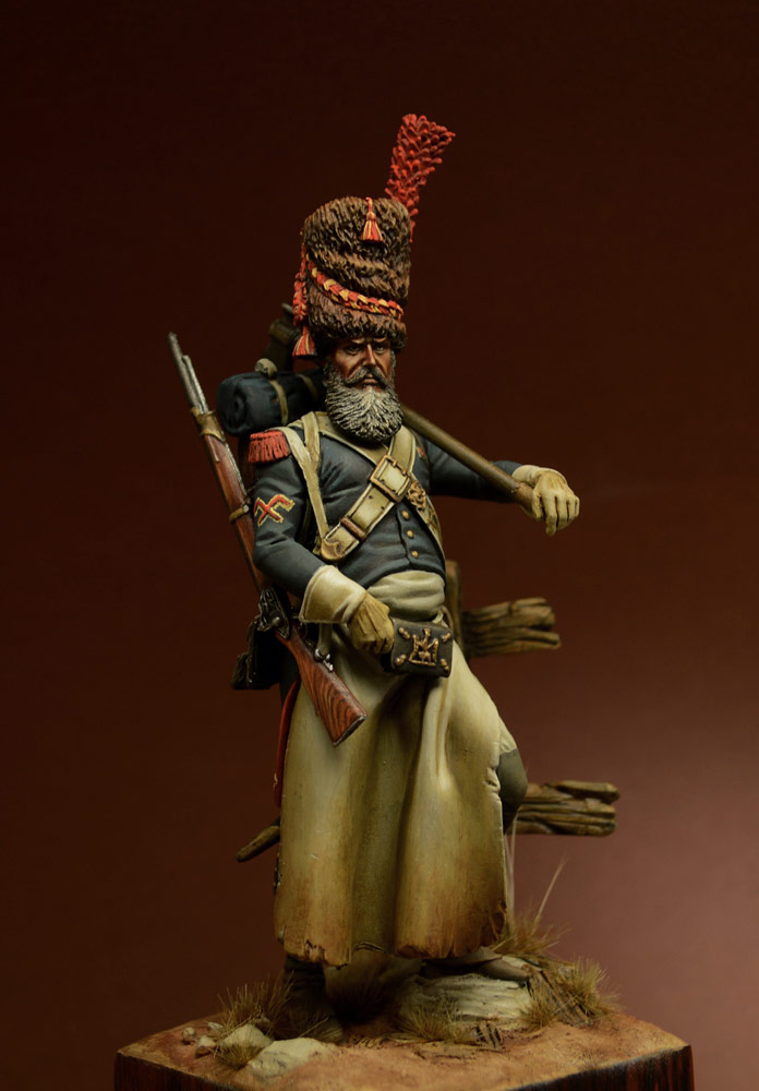 Figures: Sapper, foot grenadiers of the Emperor's Guard, 1806-07, photo #1