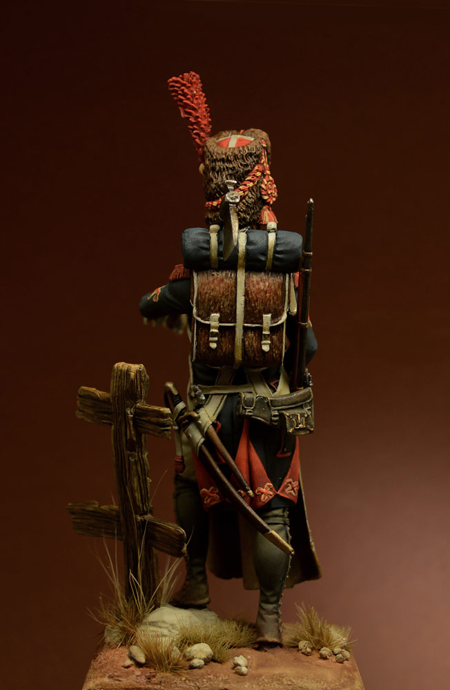 Figures: Sapper, foot grenadiers of the Emperor's Guard, 1806-07, photo #2