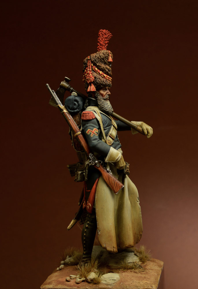 Figures: Sapper, foot grenadiers of the Emperor's Guard, 1806-07, photo #3