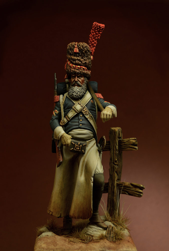 Figures: Sapper, foot grenadiers of the Emperor's Guard, 1806-07, photo #4