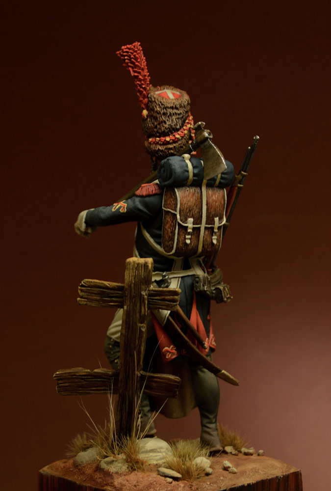 Figures: Sapper, foot grenadiers of the Emperor's Guard, 1806-07, photo #6