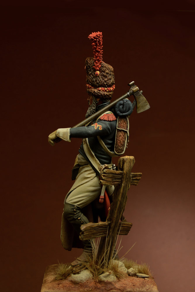 Figures: Sapper, foot grenadiers of the Emperor's Guard, 1806-07, photo #7