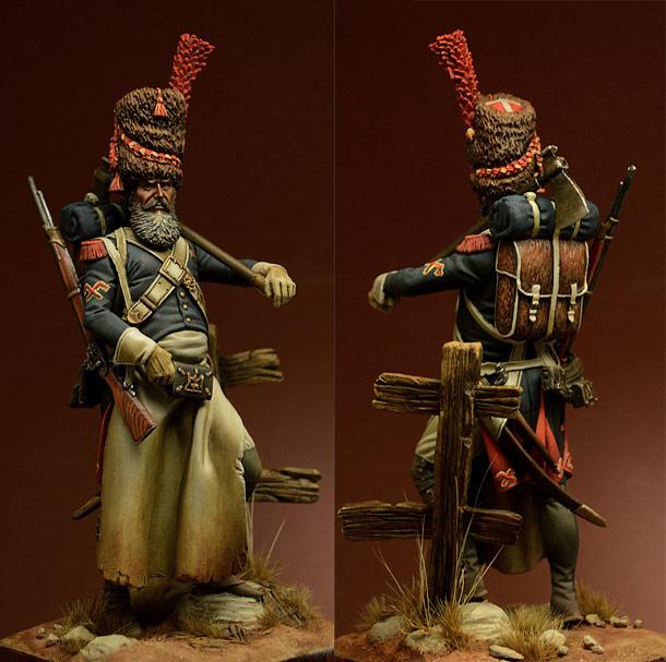 Figures: Sapper, foot grenadiers of the Emperor's Guard, 1806-07