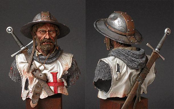 Figures: Templars sergeant, El-Mansura, 1250