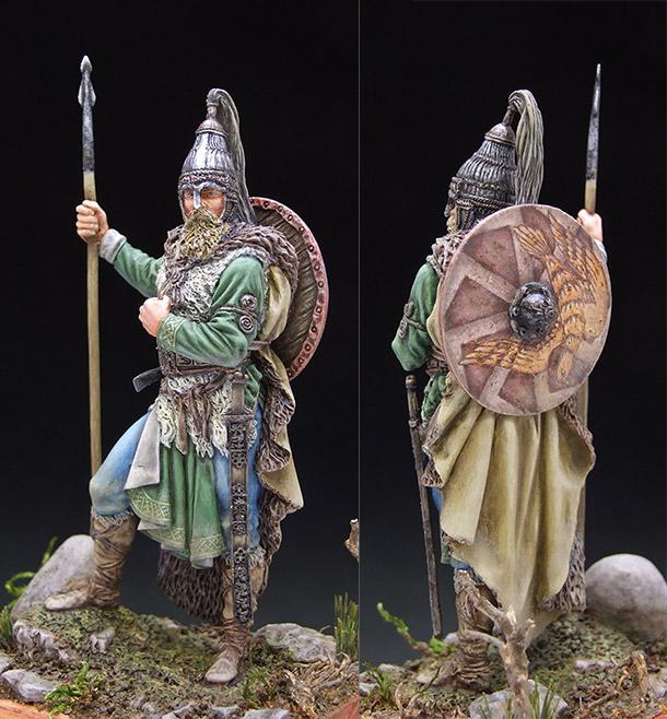 Figures: Slavic warrior, VII century A.D.