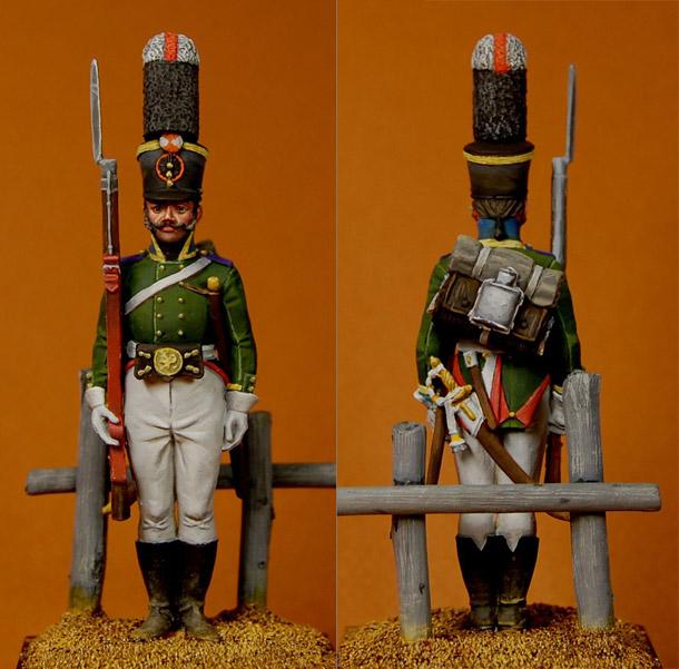 Figures: NCO, Grenadiers battalion of Kaluzhsky regt., 1805-07