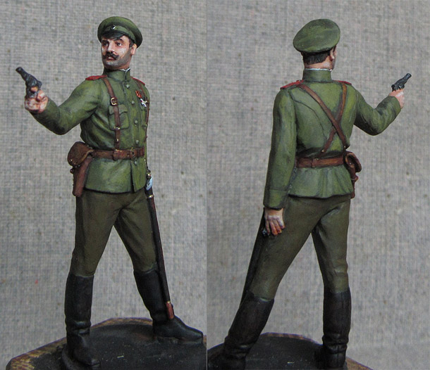 Figures: Russian army colonel, 1914
