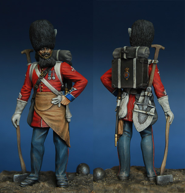 Figures: Pioneer, British Guard grenadiers, 1856-57