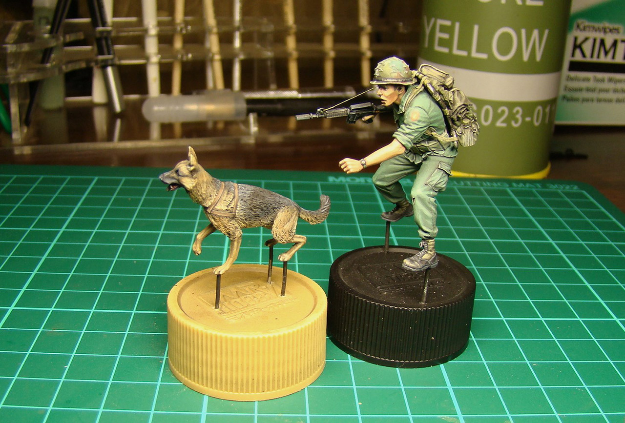 Dioramas and Vignettes: Scout with a dog. Vietnam, photo #13