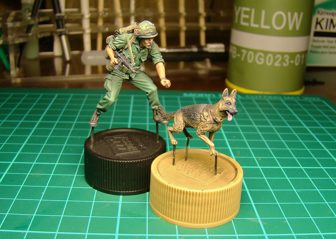 Dioramas and Vignettes: Scout with a dog. Vietnam, photo #14
