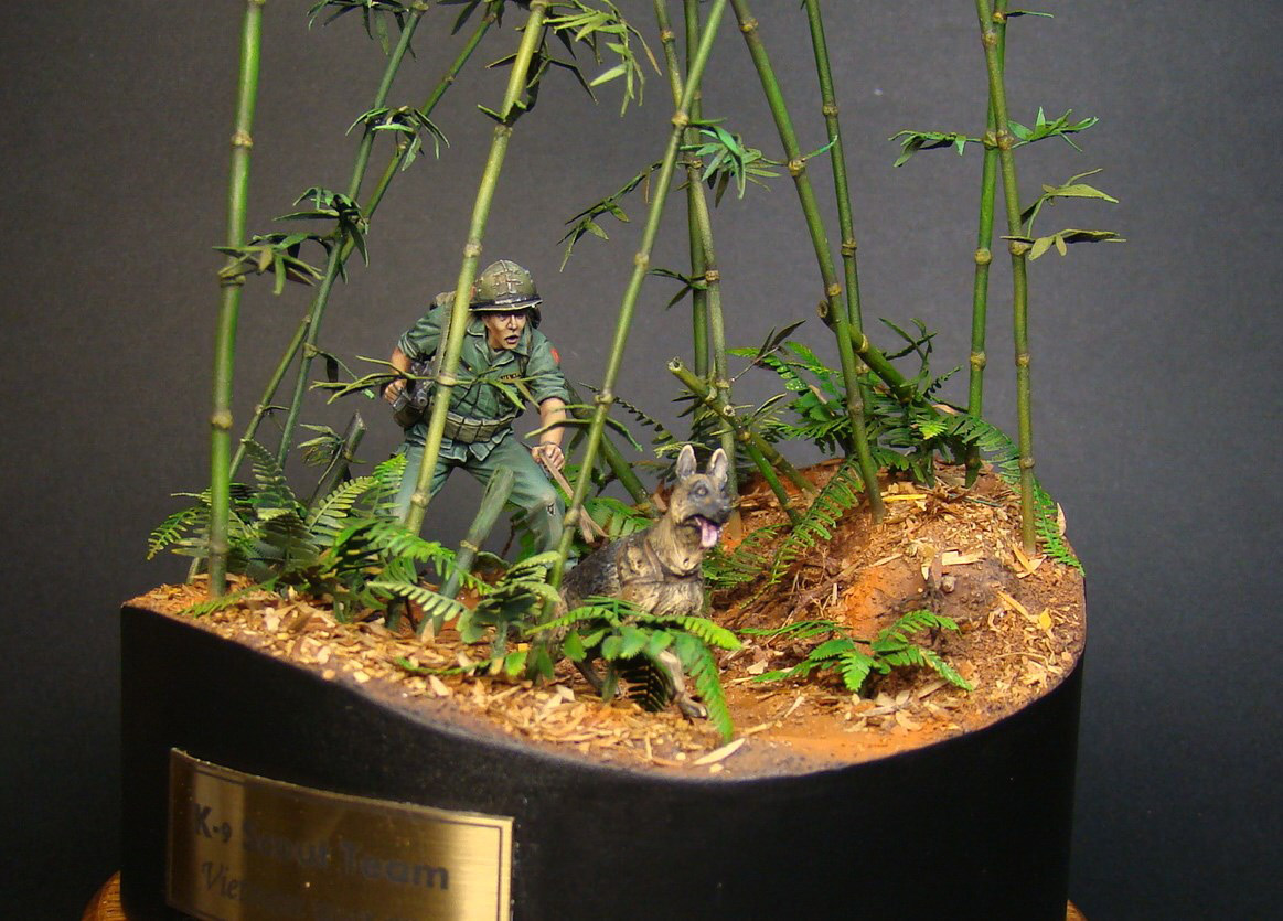 Dioramas and Vignettes: Scout with a dog. Vietnam, photo #5