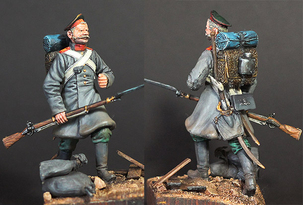 Figures: Grenadier of infantry regt. Russia, 1853-56