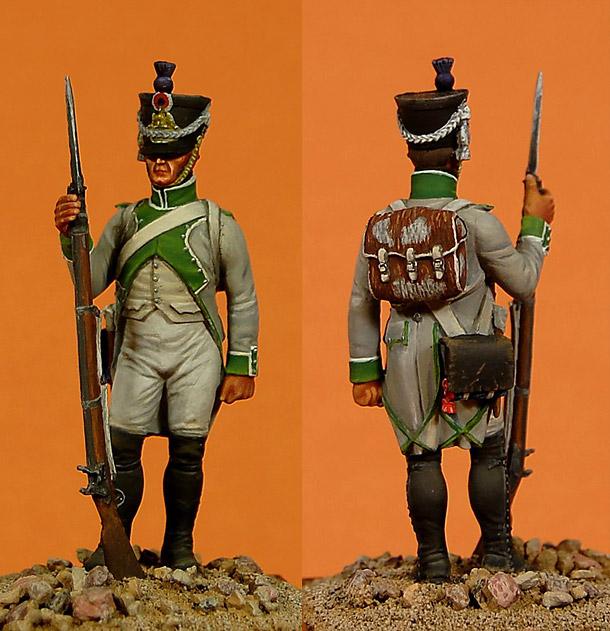 Figures: Fusilier of 3rd line infantry regt. France, 1807