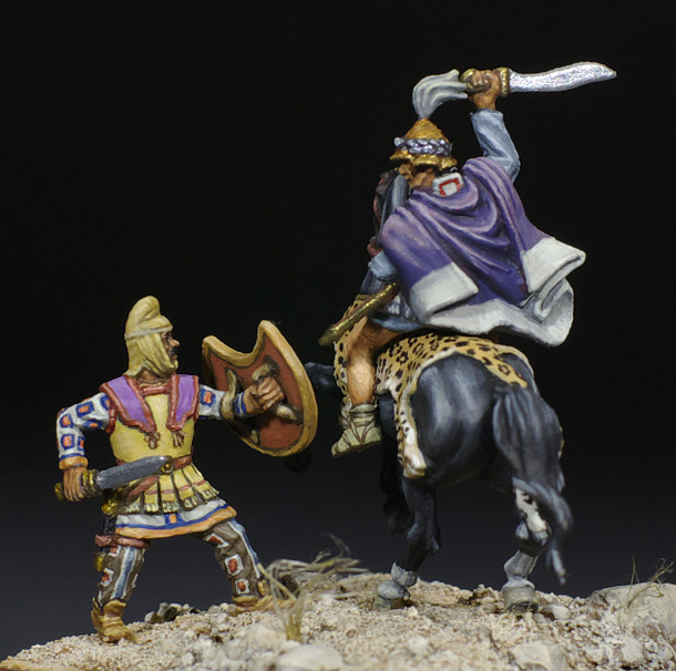 Figures: Thessalian horseman in battle